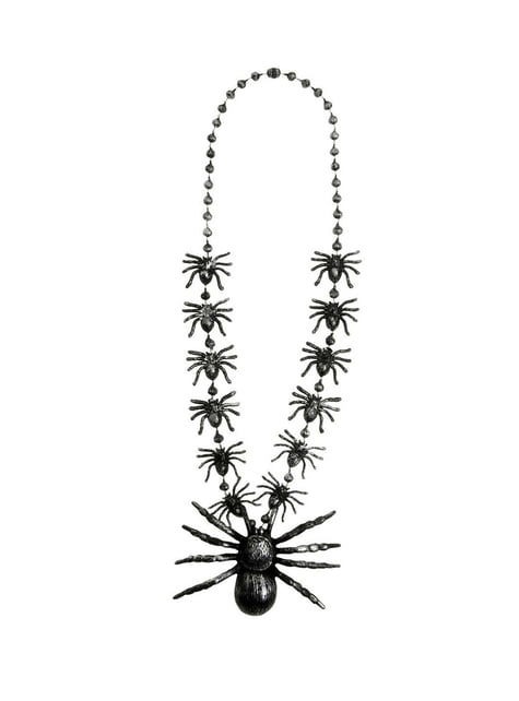 Necklace with spiders