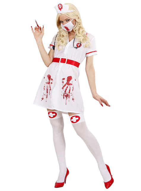 Fato de enfermeira sangrenta para mulher
