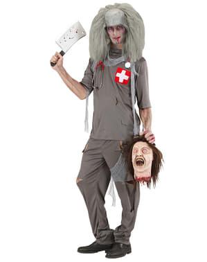 Fato de doutor zombie
