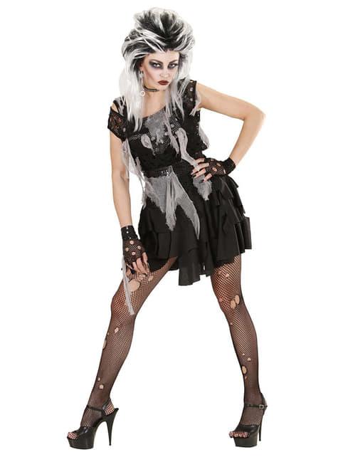 Fato de punky zombie para mulher