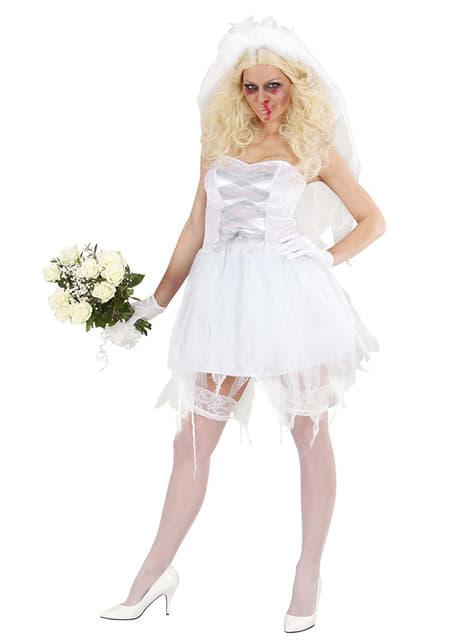 Kostium rozwiązła panna młoda zombie
