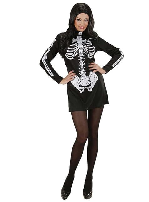 Disfraz de señorita esqueleto