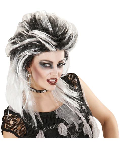 Peluca punk zombie para mujer