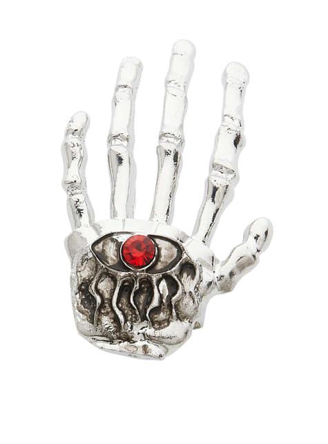 Anillo mano de esqueleto