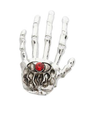 Fingerring med skelethånd