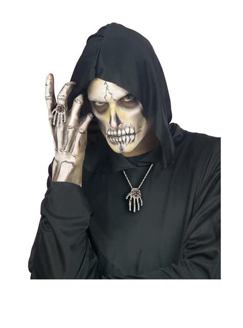 Anillo mano de esqueleto - para tu disfraz