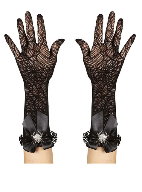 Cobweb Gloves with Spider