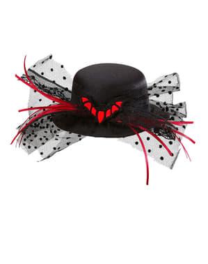 Míni chapéu de morcego