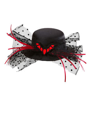 Mini klobouk s netopýrem