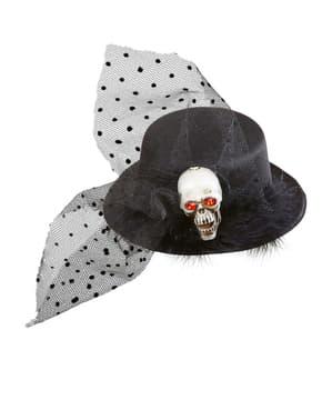 Mini sombrero de calavera