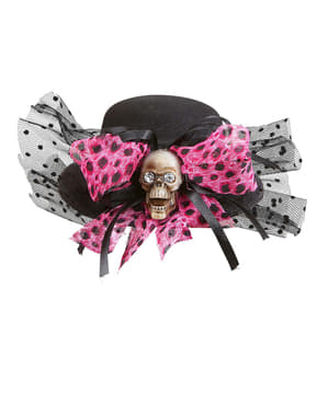 Mini Skull Hat with Bow