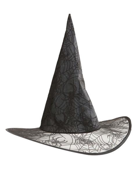 Sombrero de bruja telarañas