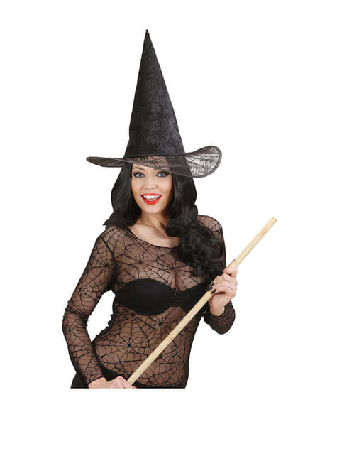 Sombrero de bruja telarañas - para tu disfraz