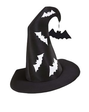 Hekse Hatt med Flaggermus