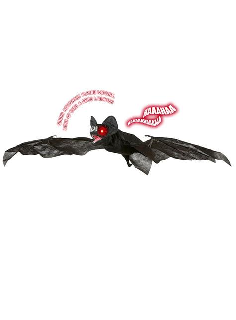 Nietoperz z światłem skrzydłami i dźwiękiem