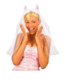 Velo de novia de diablesa cursi