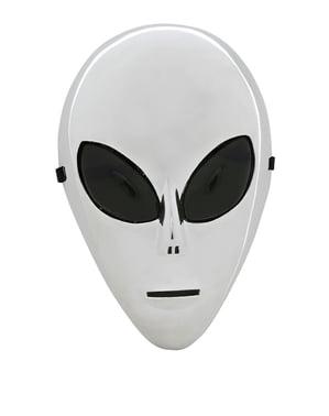 Silverfärgad utomjording Mask