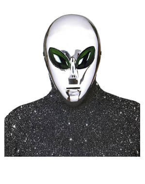 Mască de extraterestru argintiu