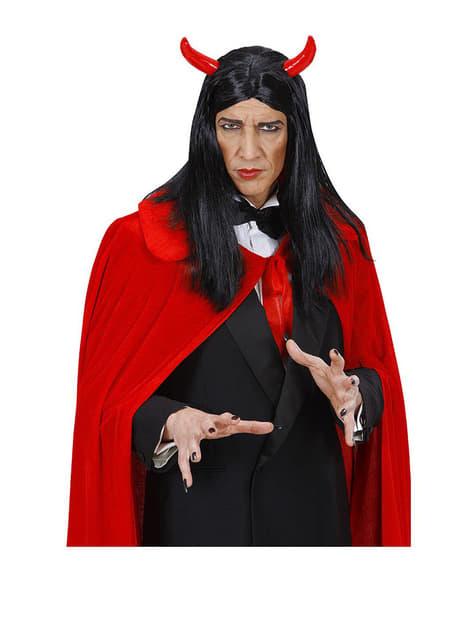 Evil Devil Black Wig