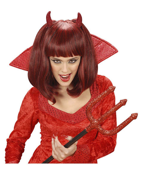 Red Evil She Devil Wig