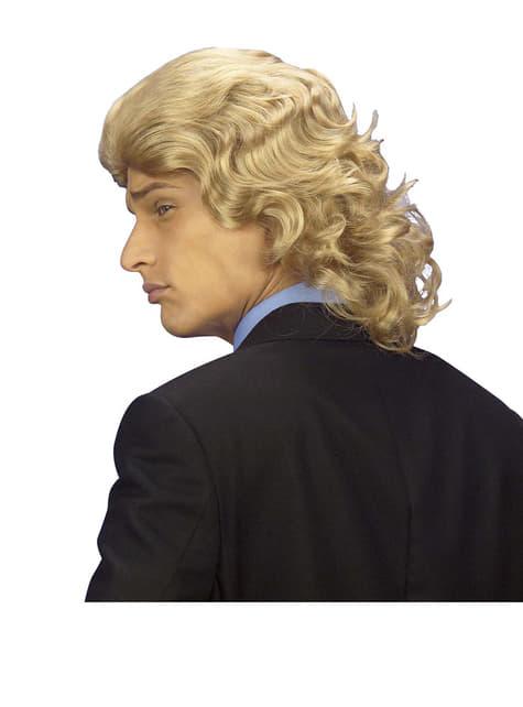 Peluca de hombre años 70 rubia - para tu disfraz