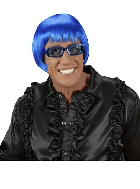 Perruque rave bleue