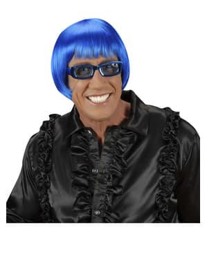 Parrucca Rave azzurra