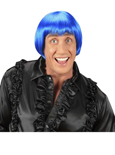 Peluca rave azul - original