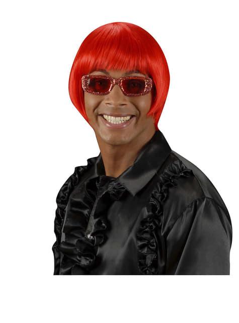 Peluca rave roja - para tu disfraz