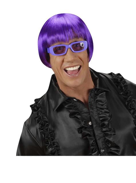 Peluca rave violeta - para tu disfraz