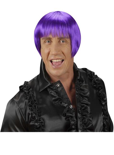 Peluca rave violeta - original