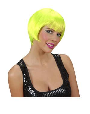 Självlysande rave peruk, grön