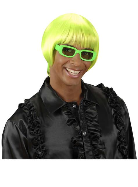 Peluca rave verde fluorescente - para tu disfraz