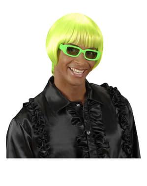 Rave Perücke grün fluoreszierend