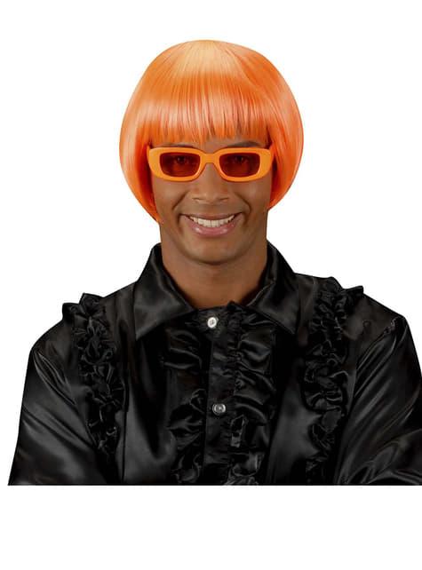 Peluca rave naranja fluorescente - para tu disfraz