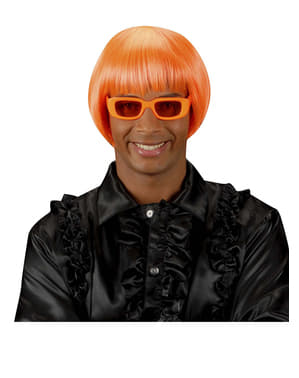 Parrucca Rave arancione fosforescente
