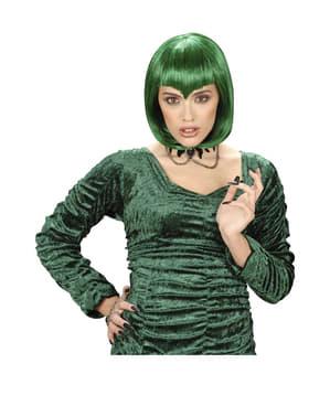 Perruque de vampiresse gothique verte