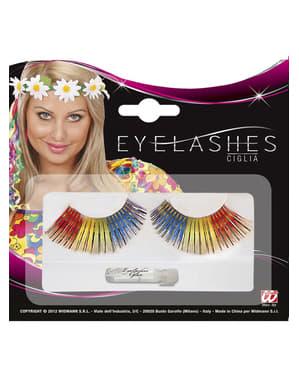 Multifarvede øjenvipper