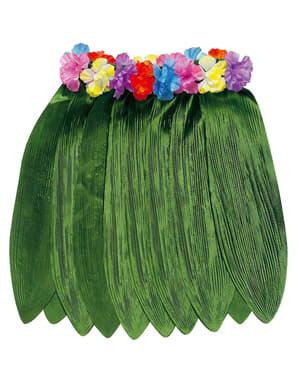 Fustă hawaiană pânză verde