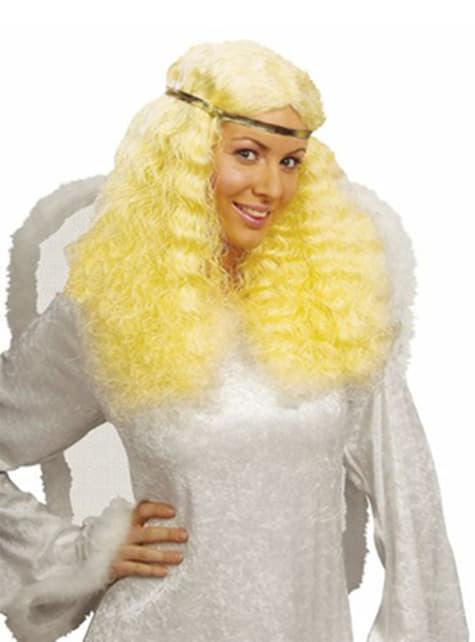 Perruque à longue chevelure Angel