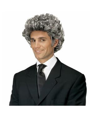 Об'ємний парик сивий