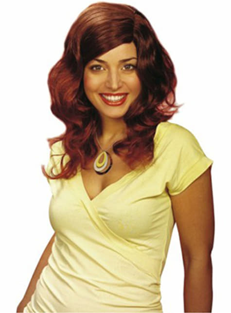 Medium Brown Hair Wig with Touch of Mahogany