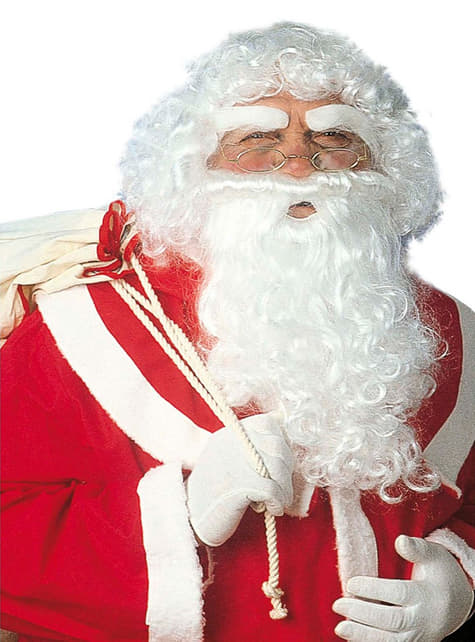 Kerstman pruik set