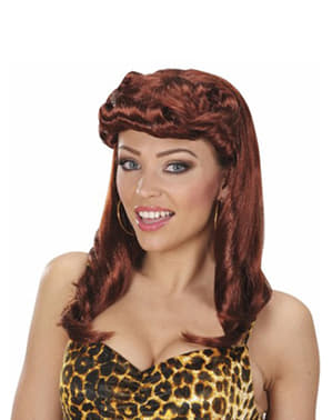 Womens Brown 1950s Wig