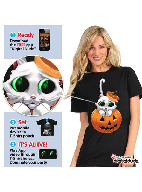 Camiseta de lindo gatito Digital Dudz