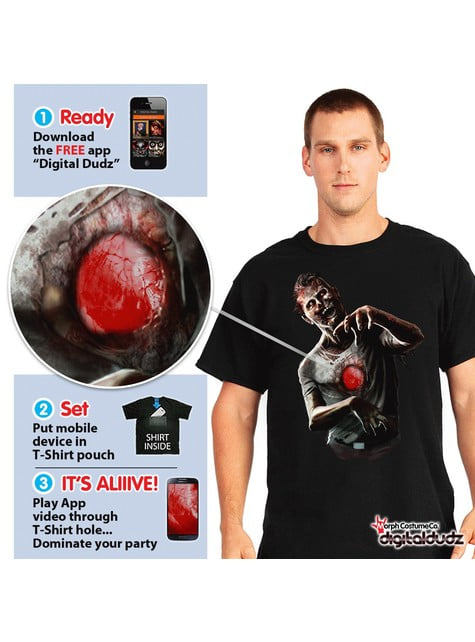 Bluzka zombie z bijącym sercem Digital Dudz