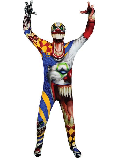 Обтягуючий костюм клоуна монстра для дітей