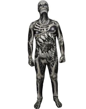 Costum craniu și oase Monster Collection Morphsuit pentru copii