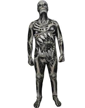 Dödskalle och benknotor Morphsuit Maskeraddräkt Barn