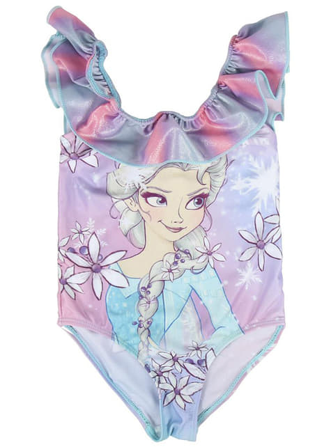 Fato de banho de Elsa para menina - Frozen